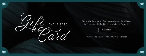 Beautylish Canada Fall 2020 Gift Card Event Shop Get Free Digital Gift Cards Annual Canadian Holiday Promotion - Glossense