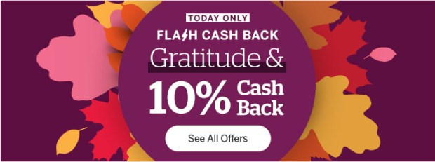 Rakuten Canada Thanksgiving Flash Sale Shop Get 10 Canadian Cash Back Today October 12 2020 Only