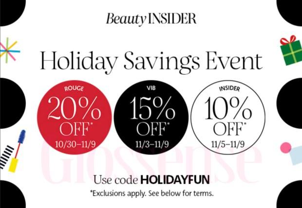 Sephora Canada 2020 Holiday Savings Event Canadian Beauty Insider Bonus Sale - Glossense