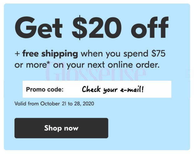 Shoppers Drug Mart Canada Exclusive E-mail Coupon Offer Free Shipping Canadian Online Coupons Promo Code 2020 - Glossense
