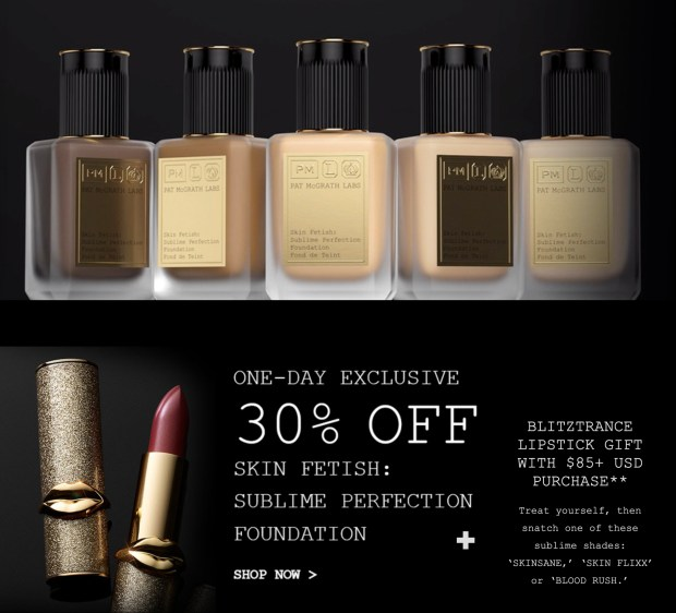 Pat McGrath Labs Canada Singles Day 2020 Canadian Deal Foundation Free Lipstick Gift - Glossense