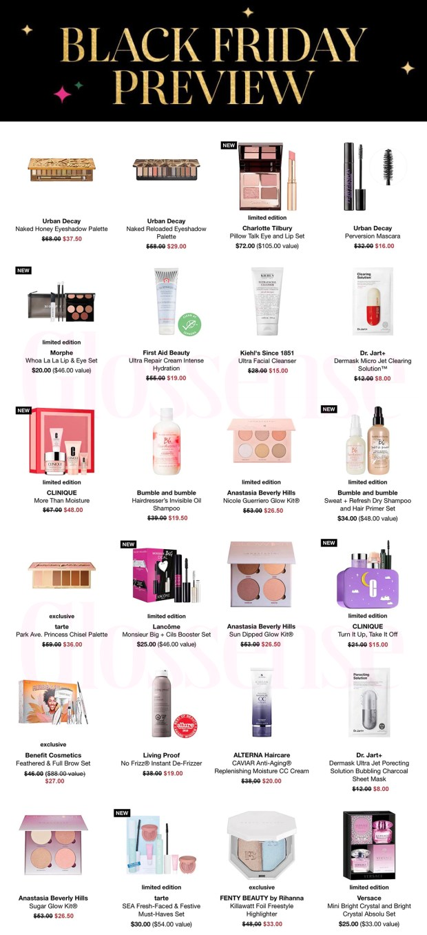 Sephora Canada 2020 Black Friday Preview Canadian Deals Sale - Glossense