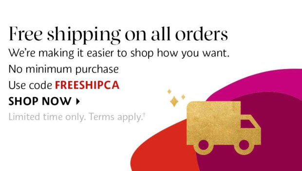 Sephora Canada Free Shipping ANY Order November 2020 Canadian Deals Promo Code - Glossense