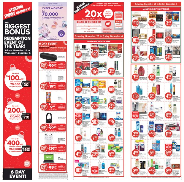 Shoppers Drug Mart Canada 2020 Flyer Black Friday Cyber Monday Canadian Deals Sale - Glossense