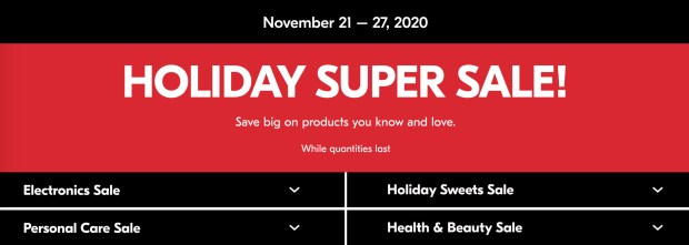 Shoppers Drug Mart Canada Holiday Super Sale 2020 Canadian Beauty Deals Sales November 21 - 27 2020 - Glossense