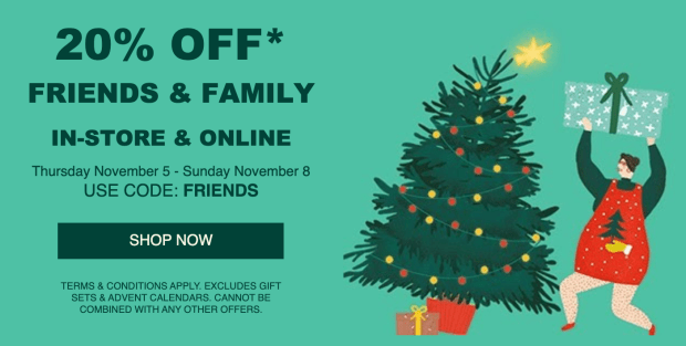The Body Shop Canada Friends and Family Sale Event Holiday 2020 Canadian Deals Coupon Promo Code - Glossense