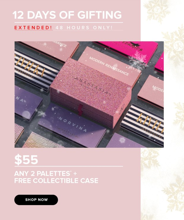 Anastasia Beverly Hills Canada 12 Days of Gifting Extended Canadian Deals - Glossense