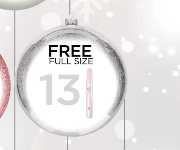 IT Cosmetics Canada Holiday Advent Calendar Free Lip Serum Canadian Deals December 13 2020 - Glossense