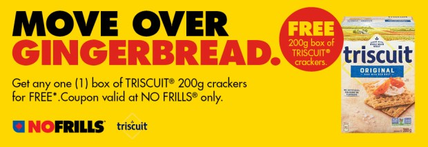 No Frills Canada Canadian Freebies Free Triscuit Crackers - Glossense