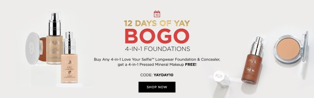 PUR Cosmetics Canada 12 Days of Yay 2020 Canadian Deals Sales Day 10 Save on Foundations - Glossense
