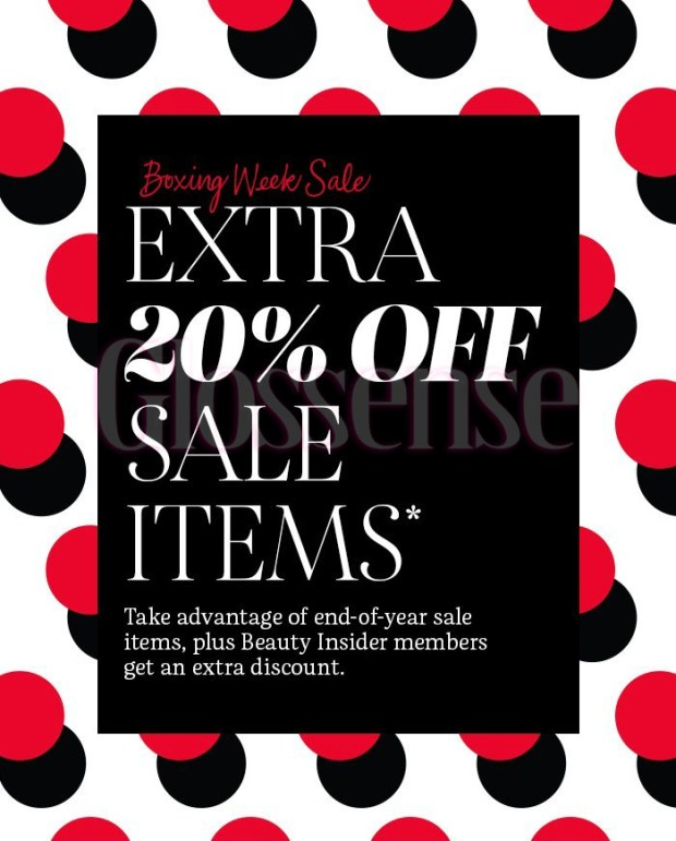Sephora Canada 2020 Boxing Day Sale on Sale Event Boxing Week Canadian Deals 2021 - Glossense