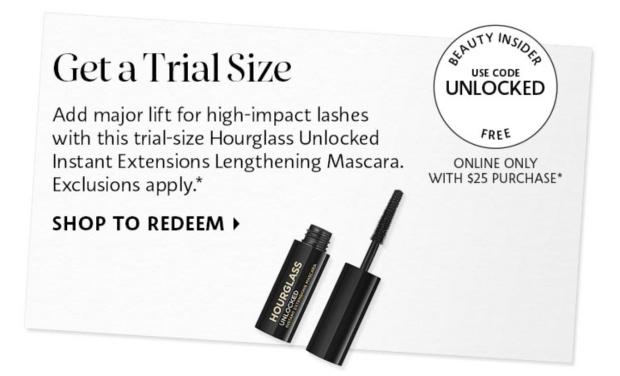 Sephora Canada Promo Code Free Hourglass Unlocked Mascara Deluxe Sample - Glossense