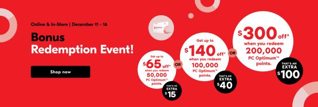 Shoppers Drug Mart Canada Bonus Redemption Event December 2020 Canadian Deals - Glossense