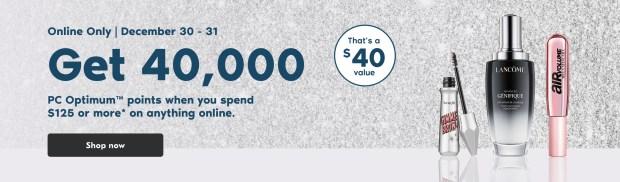 Shoppers Drug Mart Canada Get 40000 PC Optimum Points 125 Purchase Dec 30 31 2020 - Glossense