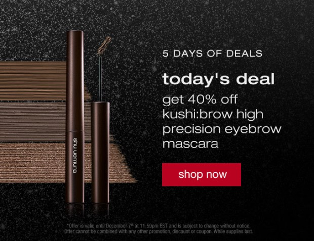 Shu Uemura Canada 5 Days of Holiday Deals Canadian Sale Offers 2020 Day 1 - Glossense