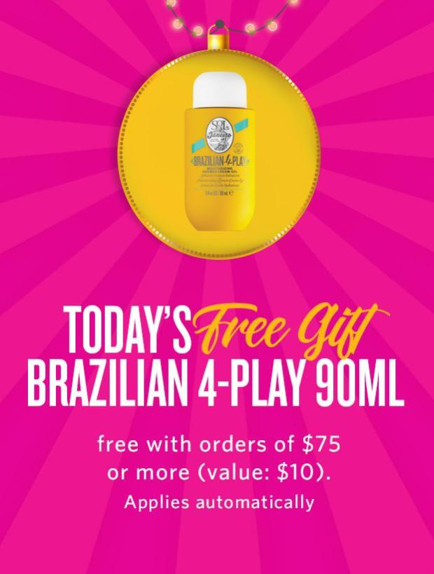 Sol de Janeiro Canada 5 Days of Gifts Day 2 Free Brazilian 4-Play GWP - Glossense