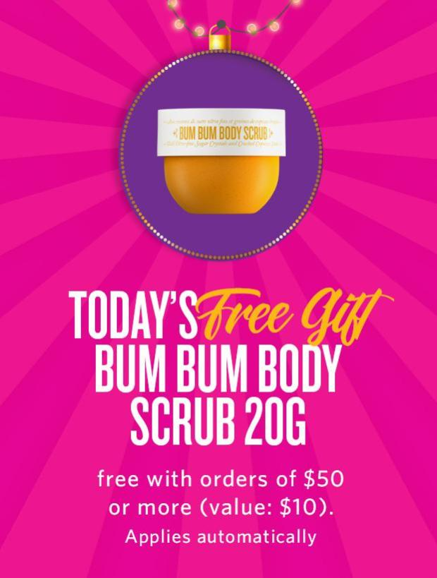 Sol de Janeiro Canada 5 Days of Gifts Day 3 Free Bum Bum Body Scrub GWP - Glossense