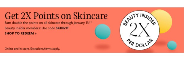 Sephora Canada 2x Beauty Insider Points Skincare January 2021 - Glossense
