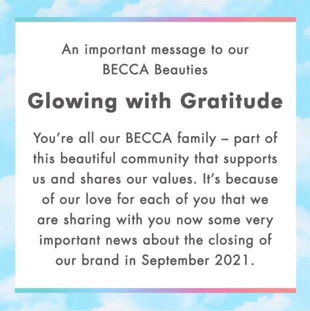 Becca Cosmetics Canada Brand Announcement - Glossense