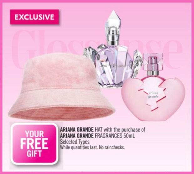 Shoppers Drug Mart GWP Free Ariana Grande Hat - Glossense