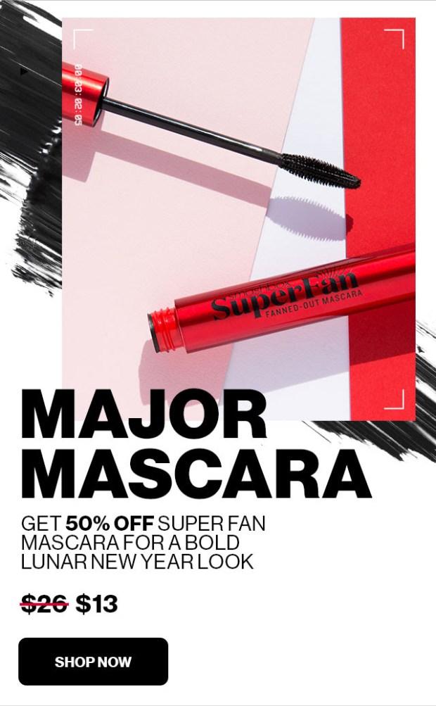 Smashbox Cosmetics Canada Lunar New Year 2021 Canadian Sale Mascara Superfan - Glossense