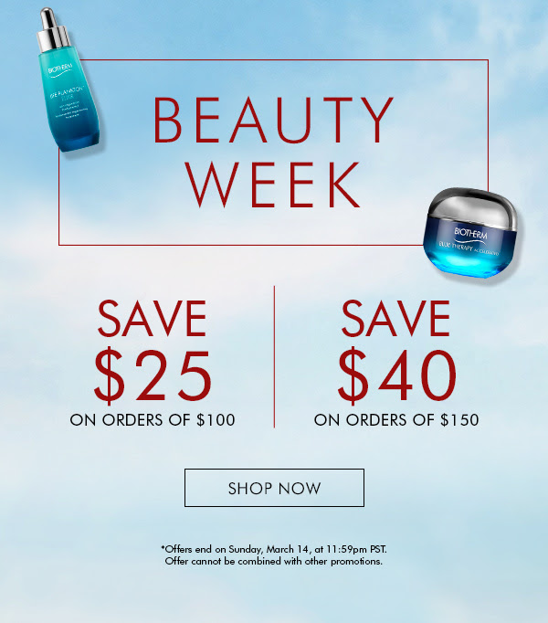 Biotherm Canada Beauty Week Canadian Sale Deals Spring 2021 - Glossense