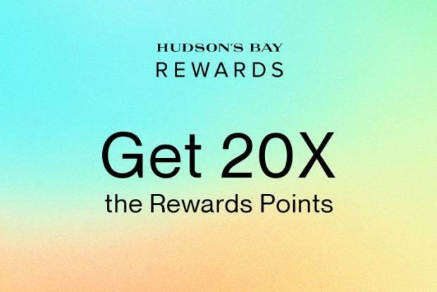 Hudson's Bay Canada Get 20x Rewards Points Beauty Wonder Week Canadian Event - Glossense