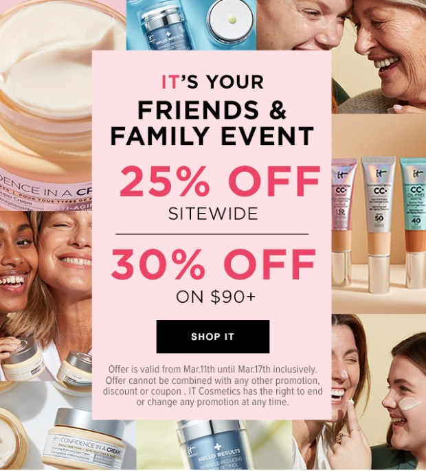 It Cosmetics Canada Friends Family Event Lucky St Patrick's Day Canadian Deals 2021 - Glossense