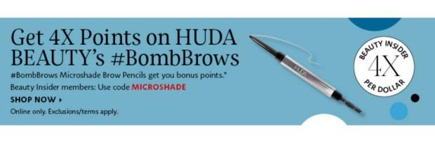 Sephora Canada Get 4x Beauty Insider Points WUB Huda Beauty BombBrows Pencil - Glossense