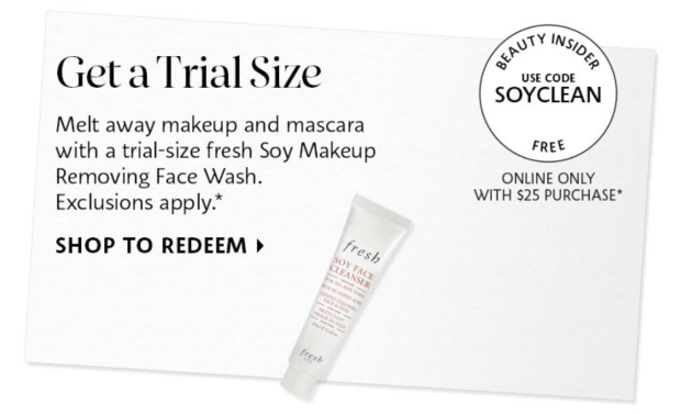 Sephora Canada Promo Code Free Fresh Soy Makeup Removing Face Wash Sample - Glossense