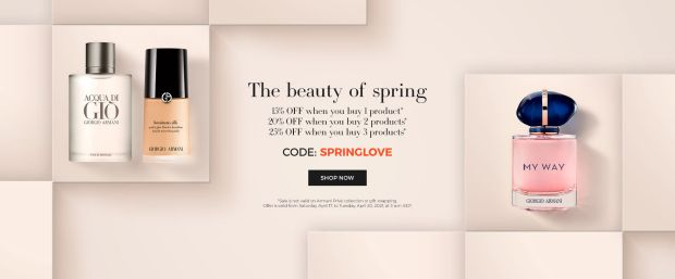 Giorgio Armani Beauty Canada Beauty of Spring 2021 Canadian Deals - Glossense