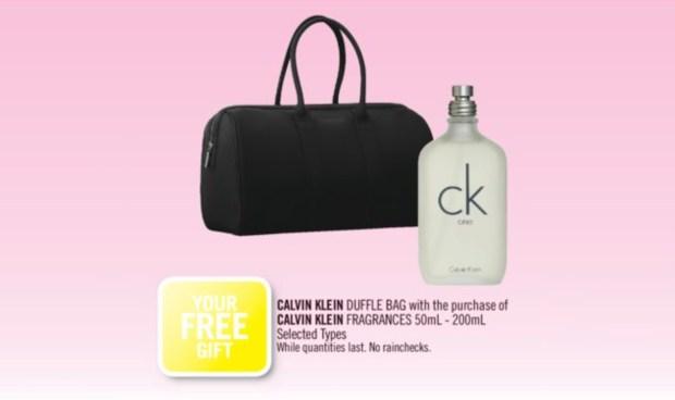 Shoppers Drug Mart Canada Free Calvin Klein Duffle Bag Gift - Glossense