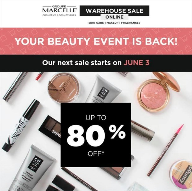 Groupe Marcelle Canada Spring Beauty Event Sale Canadian Deals - Glossense