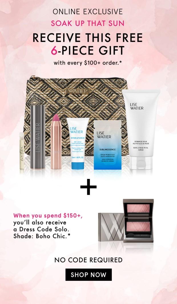 Lise Watier Canada Free Summer Ready Gift Set Blush Canadian Deal - Glossense