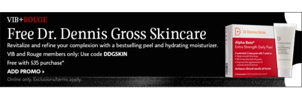Sephora Canada Promo Code VIB Rouge Gift Free Dennis Gross Skincare Sample Set - Glossense