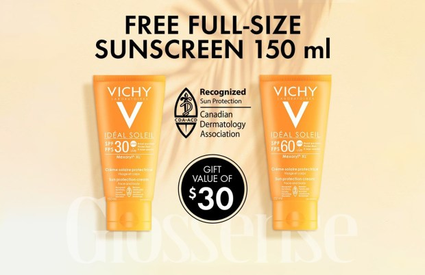 Vichy Canada Free Full Size Sunscreen Canadian Deals - Glossense