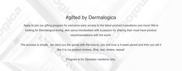 Dermalogica Canada Canadian Gifting Program - Glossense