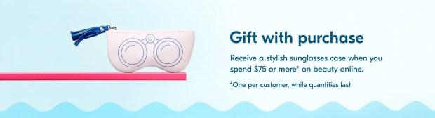 Shoppers Drug Mart Canada Free Beauty Watch Sunglasses Case Gift - Glossense