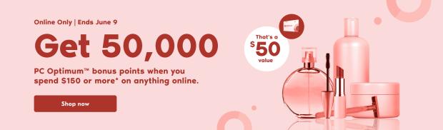 Shoppers Drug Mart Canada Get 50000 PC Optimum Points June 9 2021 - Glossense