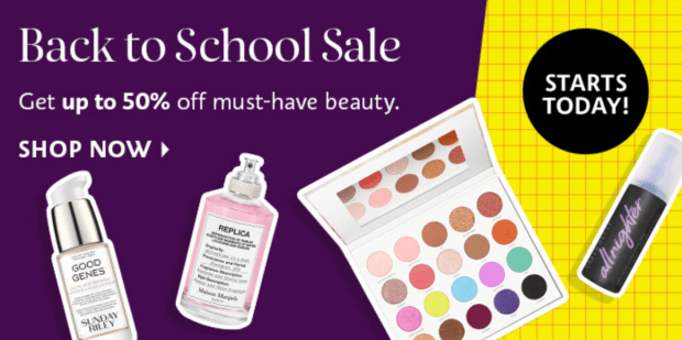 Sephora Canada Back to School Sale 2021 Labour Day Canadian Deals - Glossense
