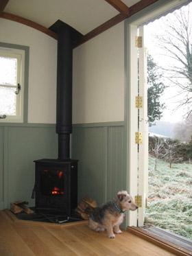 Baggy in hut