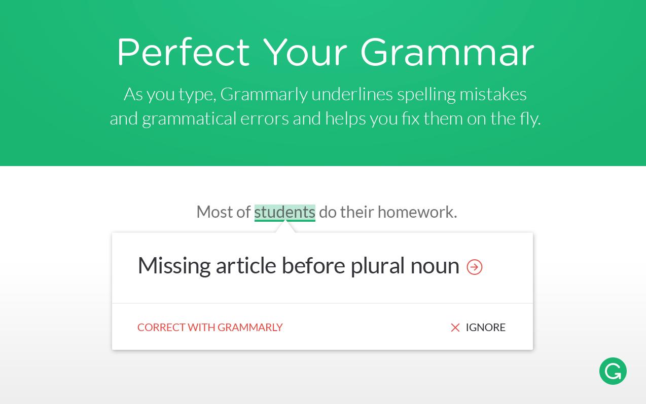 grammarly proofreader grammar spellcheck