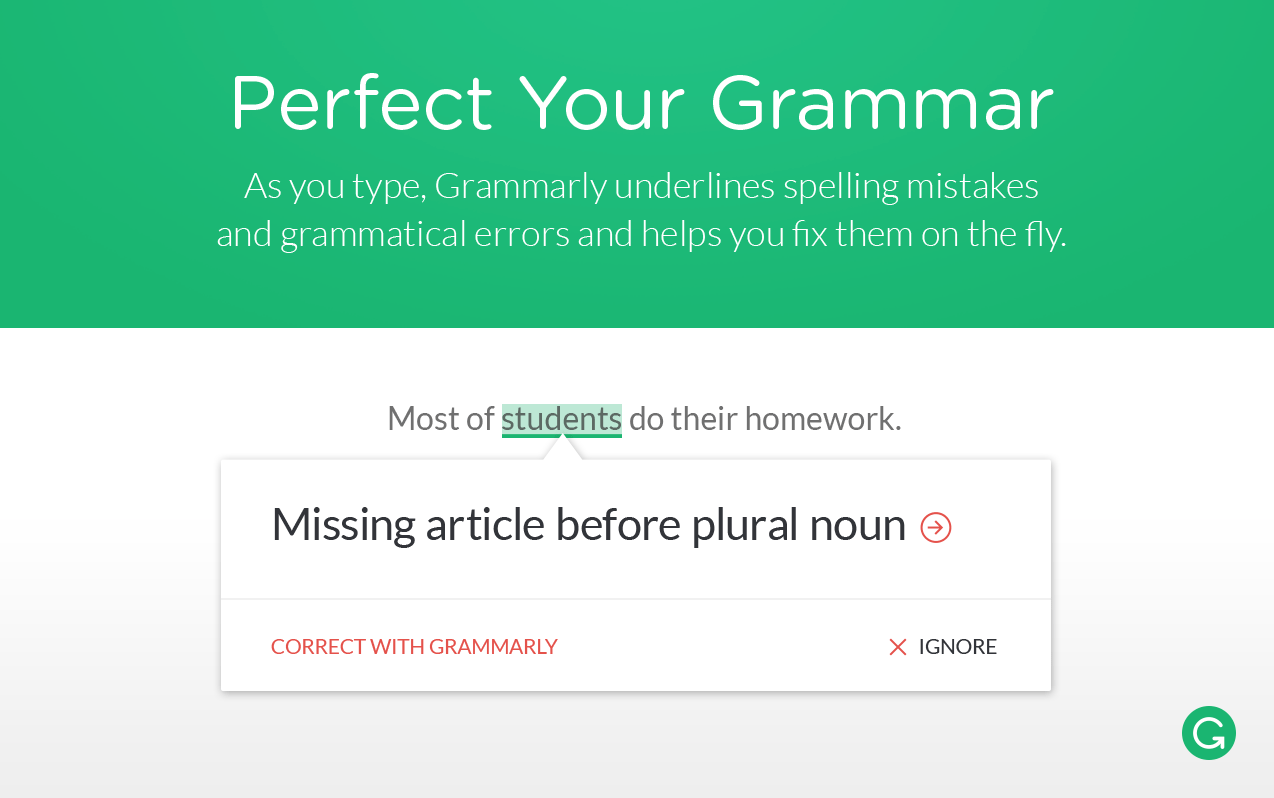 grammarly proofreader grammar spellcheck