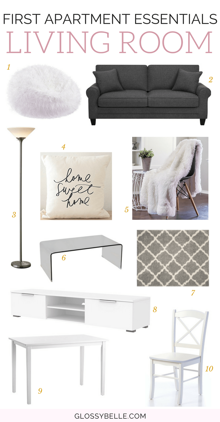 If you're about to move out into your first apartment, here are the most important apartment essentials you'll need to be ready to move out on your own. | adulting | move out for the first time | moving out | independence | college essentials | college dorm | room essentials | home decor | living room essentials #apartment #furniture #furnitureideas #adulting #livingroomideas #livingroomdecor #livingroomfurniture #livingroom