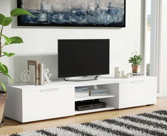 tv stand in living room