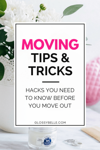 Moving doesn't have to be a huge ordeal if you're prepared & know what to expect. Here are some tips & tricks you need for a stress-free, successful move. | moving tips | moving hacks | moving tips and tricks | beginner's guide | move out on your own | adulting #movingtips #cleaning #movinghacks #movingday #packing #packingtips