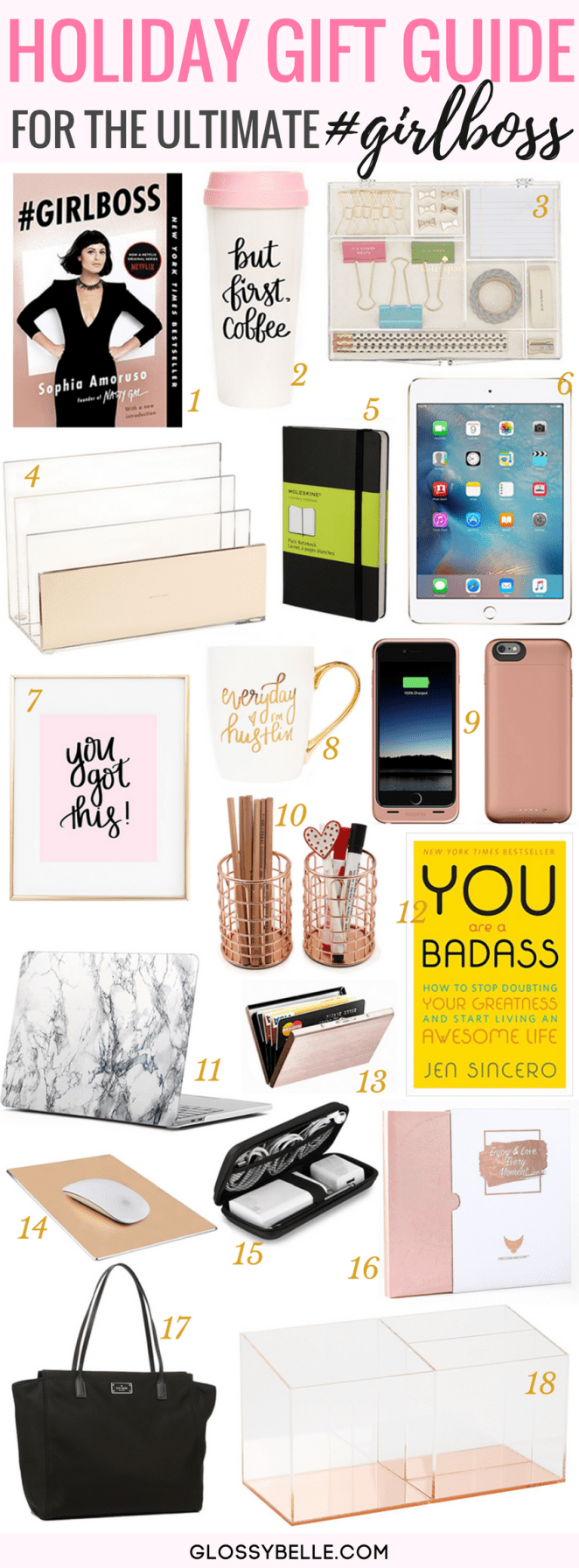 Holiday Gift Guide 2017: Gifts For The Ultimate Girl Boss // If you're having trouble finding the perfect gift for the ultimate girl boss in your life, follow my holiday gift guide with 18 must-have gifts for her.