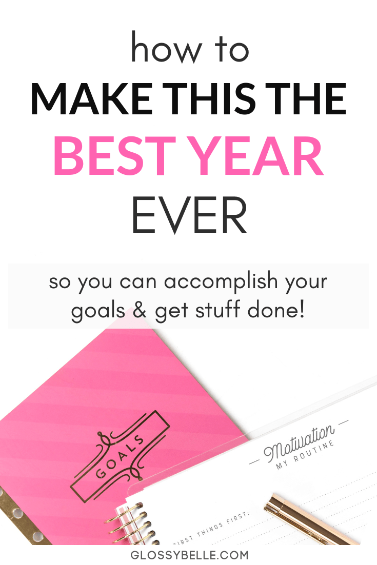The new year is a totally fresh start to the year. In this post, I give my tips on how to successfully set goals and plan your year. Learn how to finally achieve success and make your dreams a reality! | girlboss | motivated | setting goals | goal setting | slay your goals | planners | planning | personal growth | personal development | self improvement #motivation #newyearsresolution #goals #goalsetting #newyears #selfimprovement #success #productivity