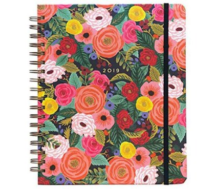 Rifle Paper Co 17-Month Jumbo Spiral Planner With Stickers