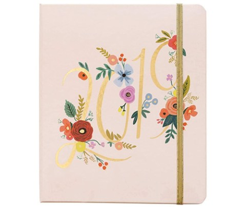 Rifle Paper Co 17-Month Small Spiral Planner With Stickers